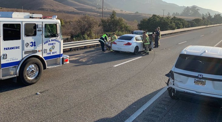 Five Injured in Gaviota Vehicle Collision