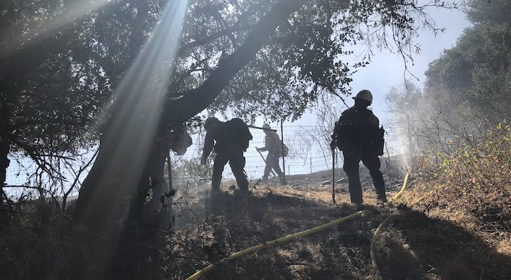 Firefighters Halt Buellton Brush Fire Near Neighborhood title=