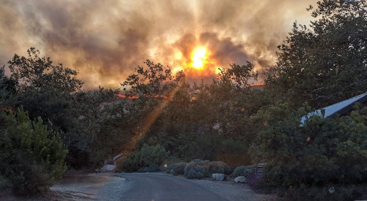 Brush Fire Near El Capitan 50% Contained