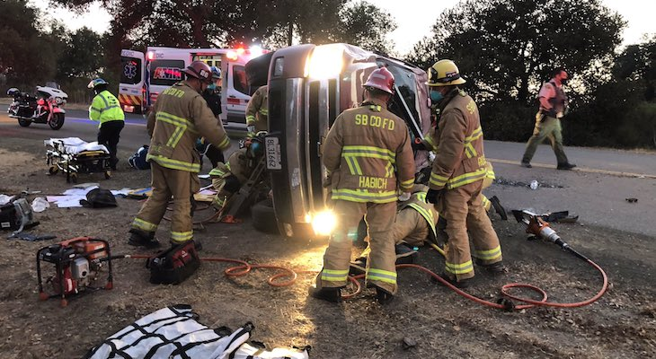 Driver Flown to Hospital After Becoming Trapped Under Vehicle