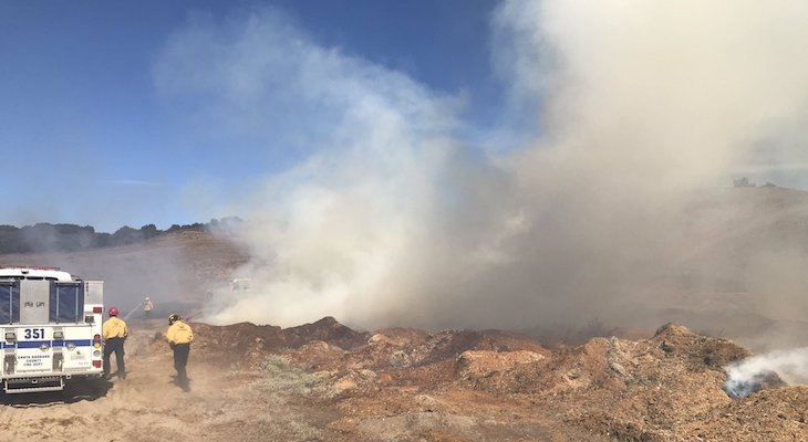 Wind-Driven Brush Fire Growing Near Los Alamos