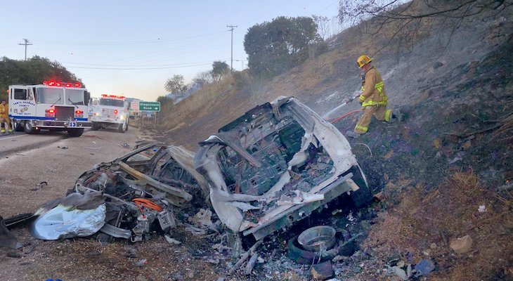 Triple Fatal Highway 154 Collision Sparks Fire, Shuts Down Roadway