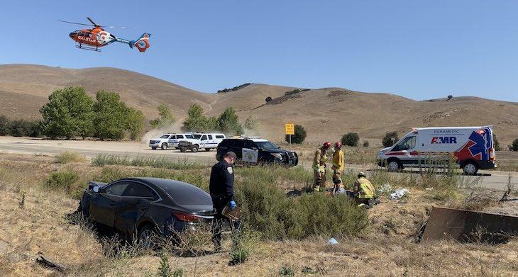 Five Injured in Vehicle Collision Near Los Alamos