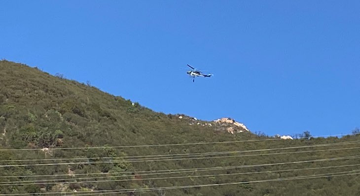 Injured Paraglider Above Mission Canyon