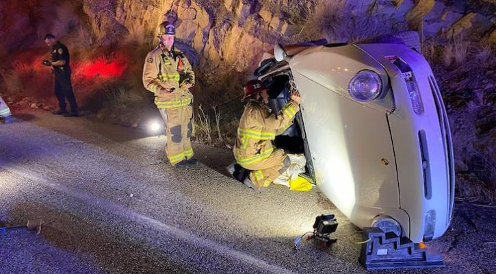 Solo Highway 154 Vehicle Rollover Causes Traffic Delays title=