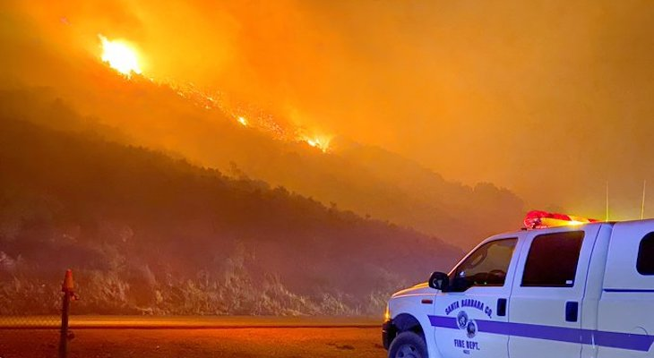County Claims Local Emergency for Cave Fire title=