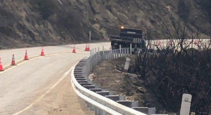 Highway 154 Reopens After Cave Fire title=