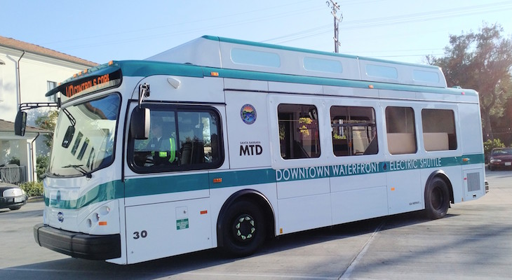 First of New MTD Electric Shuttles Arrives in Santa Barbara title=