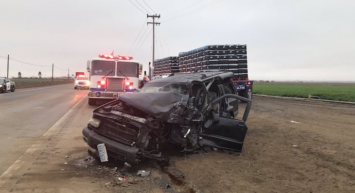 Four Injured in Santa Maria Traffic Collision title=