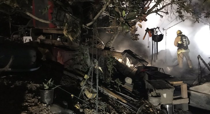 Possible Homeless Camp Fire in Solvang title=