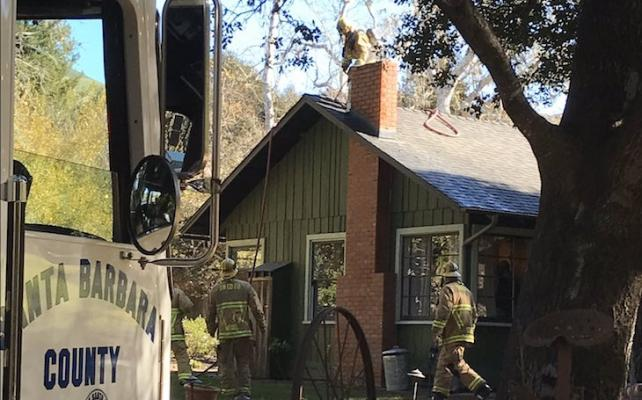 Firefighters Respond to Lompoc Chimney Fire title=