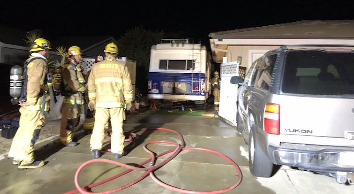 Motorhome Fire Displaces Two Santa Maria Residents