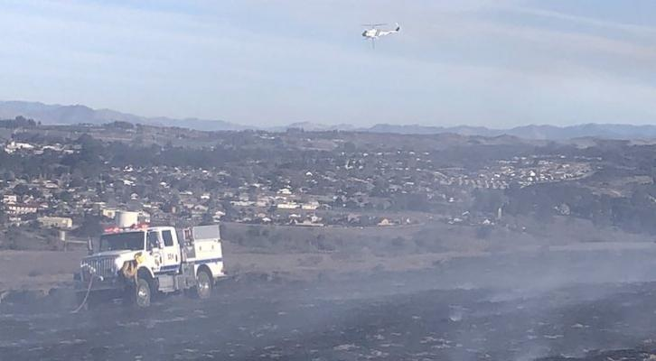 Five Acre Brush Fire Contained in Orcutt title=