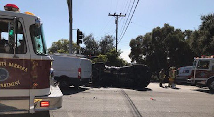 Hazmat Responds to Spill from Traffic Collision title=