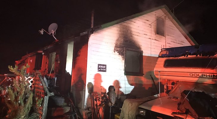Early Morning Structure Fire in Lompoc