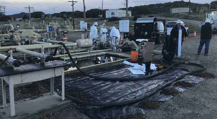 Oil Spill at Lompoc Valley Facility title=