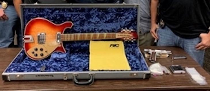 Lompoc Man Arrested for Attempting to Sell Stolen Tom Petty Guitar title=