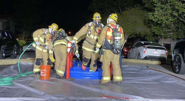 Hazardous Response to Goleta Chemical Fire title=