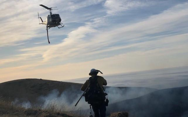 Hollister Ranch Brush Fire 100% Contained