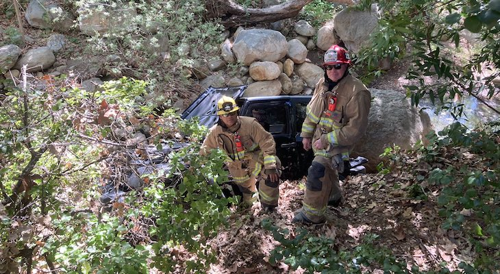 Vehicle Crashes into Rocky Nook Park Creek
