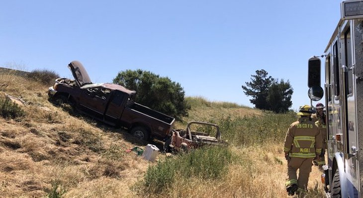 Two Injured in Highway 101 Rollover Near Orcutt