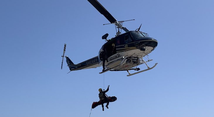 Firefighters Rescue Man from Tajiguas Cliff Fall title=