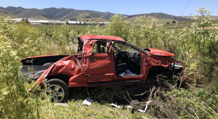 Critical Injury in Highway 101 Vehicle Rollover