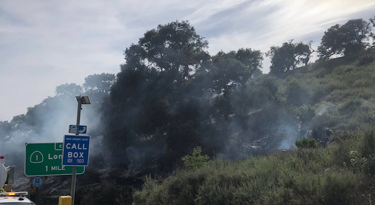 Two Acre Brush Fire Controlled Near Nojoqui Grade