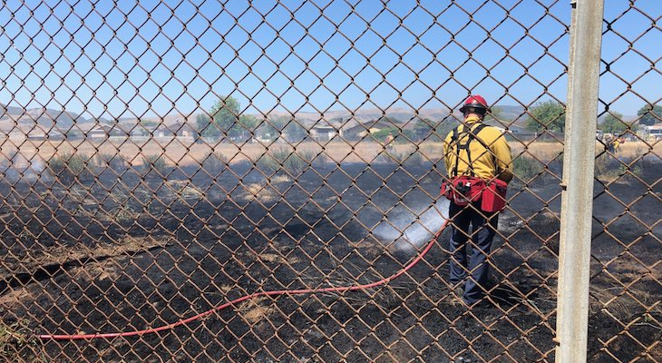Small Brush Fire in Santa Maria
