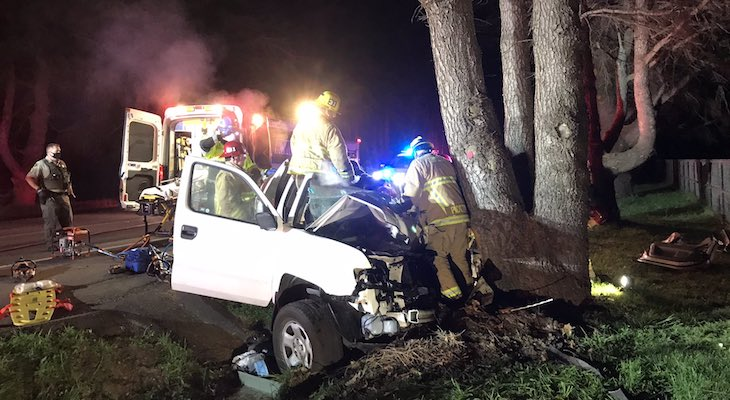 Driver Injured in Highway 246 Collision
