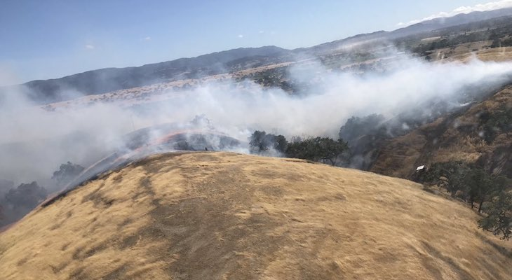 Santa Ynez Brush Fire Contained at 45 Acres