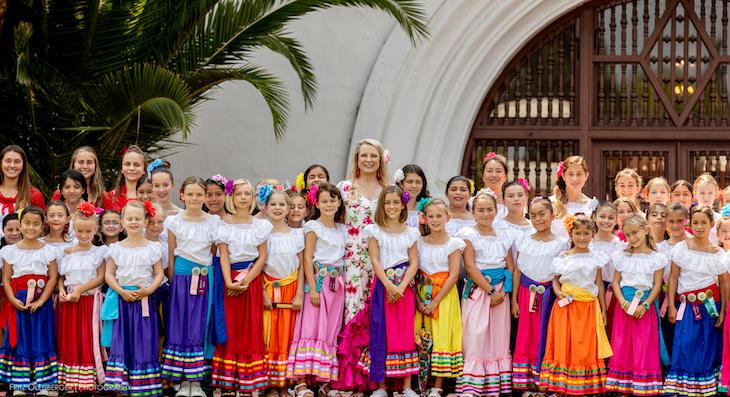 Fiesta Flower Girls Garden Party