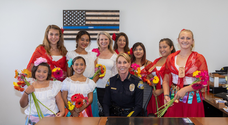 Fiesta Flower Girls Visit Local Residents and Agencies title=
