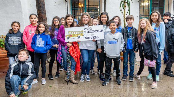 Mike's Movie Field Trip Entertains 2,000 Students title=