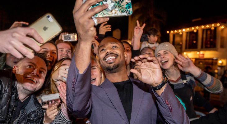 Jamie Foxx Presents Michael B. Jordan with Film Festival Award title=