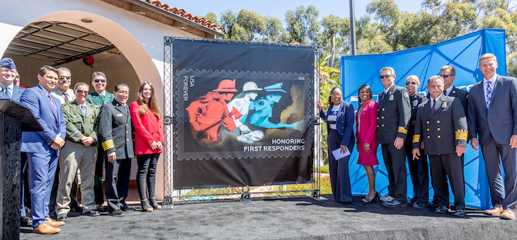 Local Post Office Honors First Responders with Forever Stamp