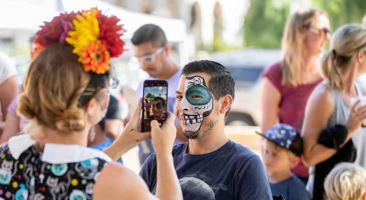 Locals Enjoy Dia de Los Muertos Craft Day