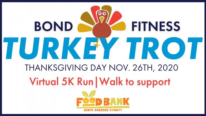 "Bond Fitness Hosts a Virtual Turkey Trot to ""Stuff The Foodbank"" title="