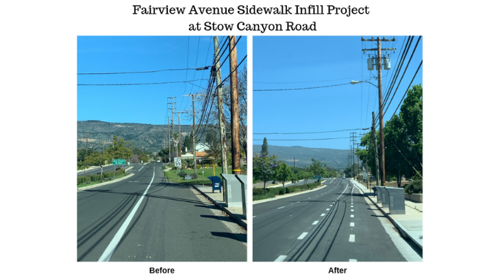 Goleta to Unveil Fairview Avenue Sidewalk Infill Project title=