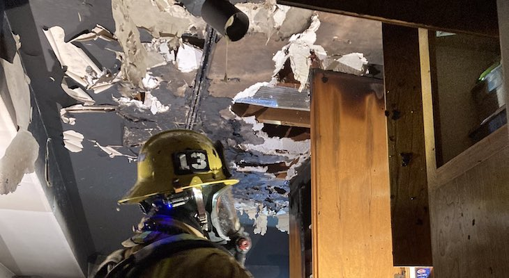 Kitchen Fire on N. San Marcos Road title=