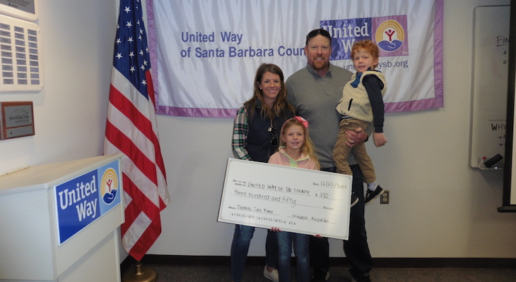 7-year-old Raises $350 for Thomas Fire  title=