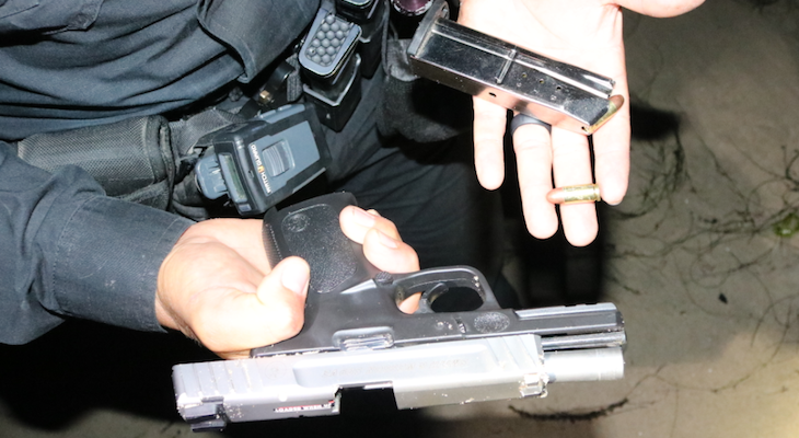 Felon in Possession of Loaded Firearm Arrested