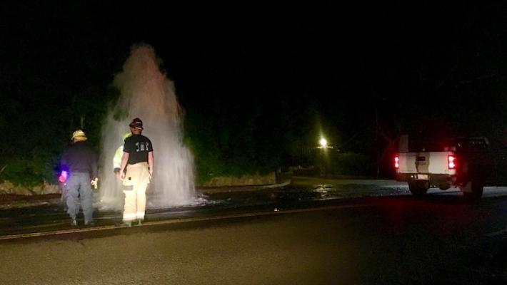 Broken Fire Hydrant in Montecito