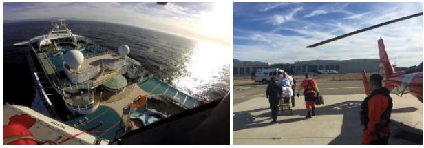 Coast Guard Evacuates Man From Cruise Ship title=