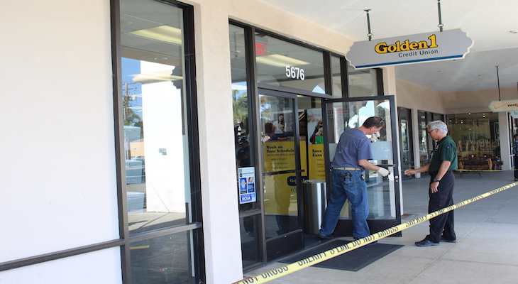 Bank Robbery at Golden 1 Credit Union
