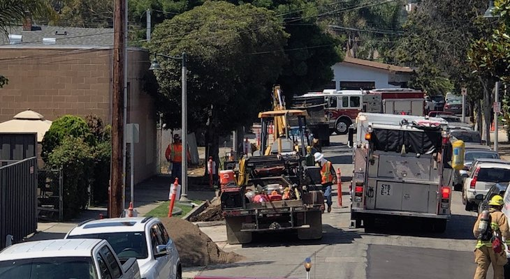 Broken Gas Main Causes Downtown Evacuations