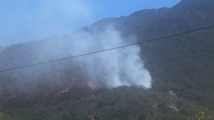 Brush Fire Near Gaviota State Beach title=