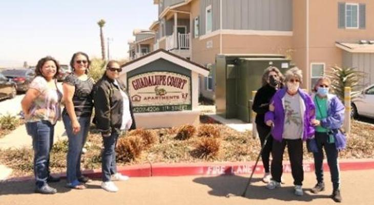 People's Self-Help Housing Tours Former Owners at Guadalupe Court Apartments