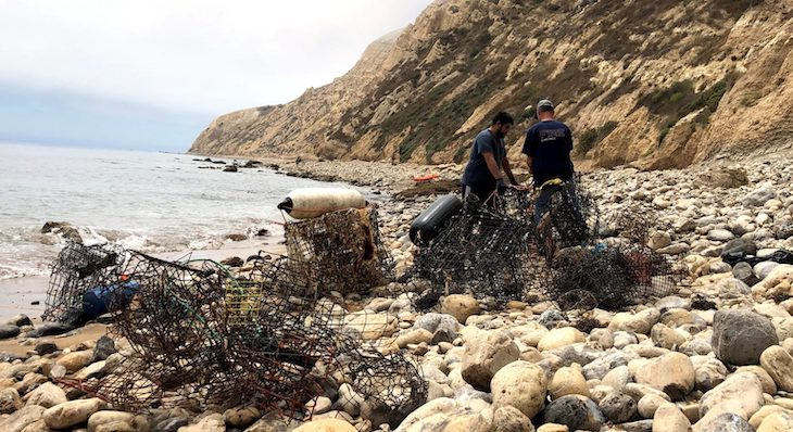 Channel Islands Cleanup Removes 131 Lost Lobster Traps title=