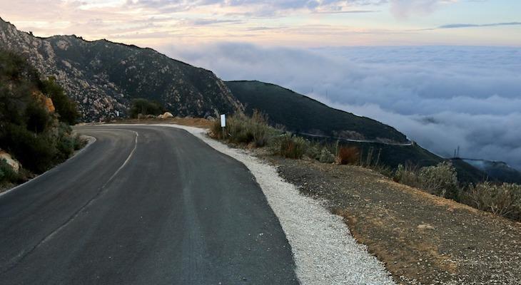 Crews Prepare Gibraltar Road for Amgen title=